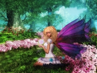 flowers-and-a-fairy