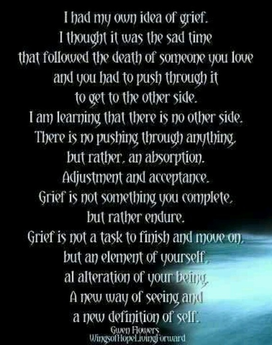death and grief In our hearts, we all know that death is a part of life in fact, death gives meaning to our existence because it reminds us how precious life is coping with loss.