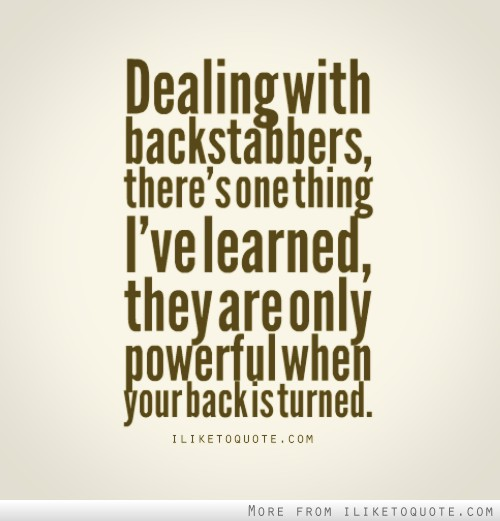Backstabber Quotes. QuotesGram